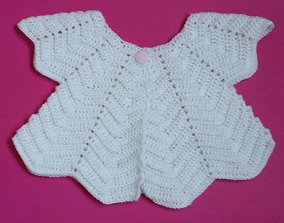 gilet bébé pétales crochet naissance 2,5 b