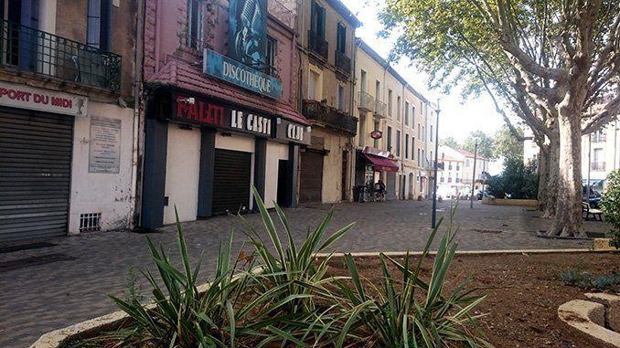 Place des Alliés, en Béziers.