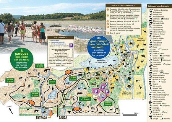 Plano de la reserva africana de Sigean
