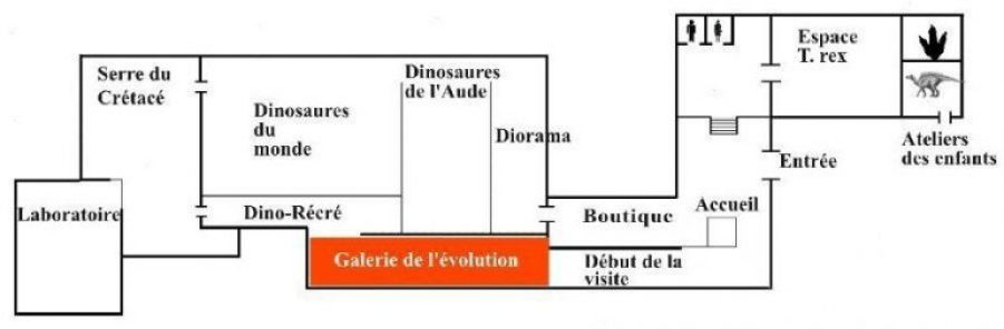 Distribución de las diferentes salas del museo.