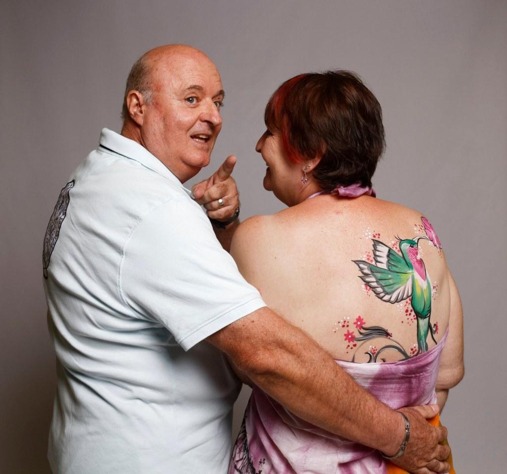 Laure Carton avec son mari © Alice Miller
