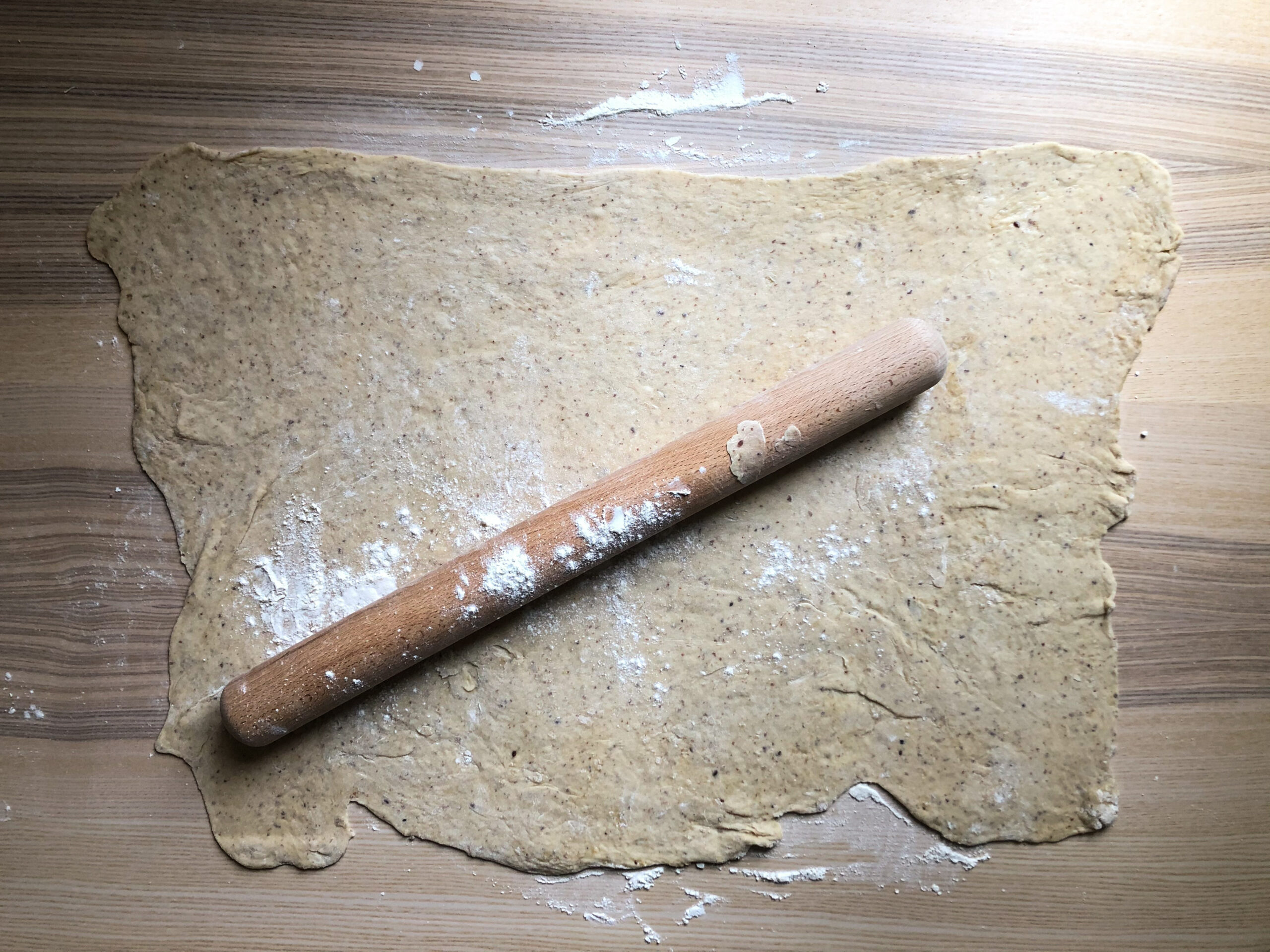 rolling out the dough
