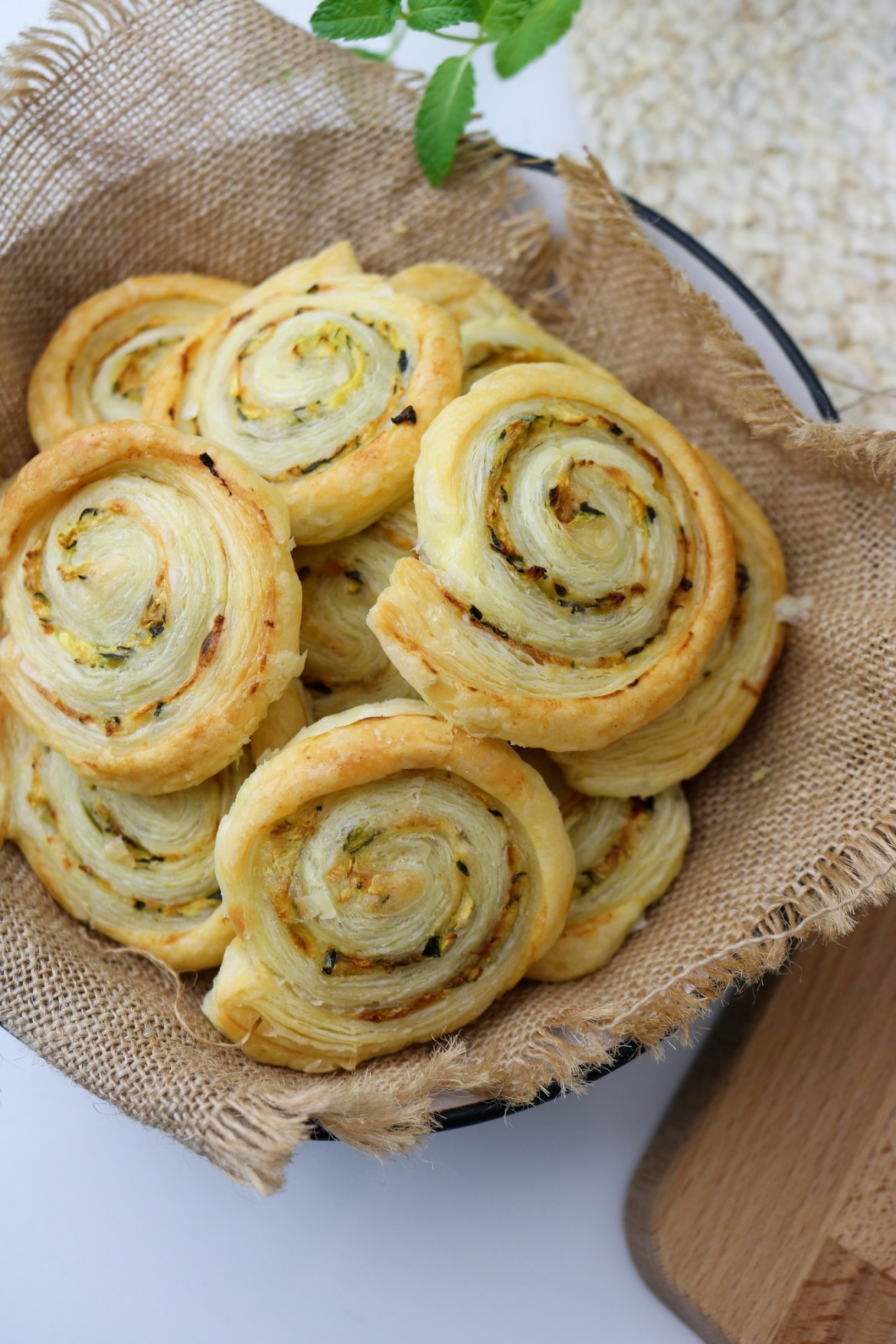 puff pastry zucchini roll ups