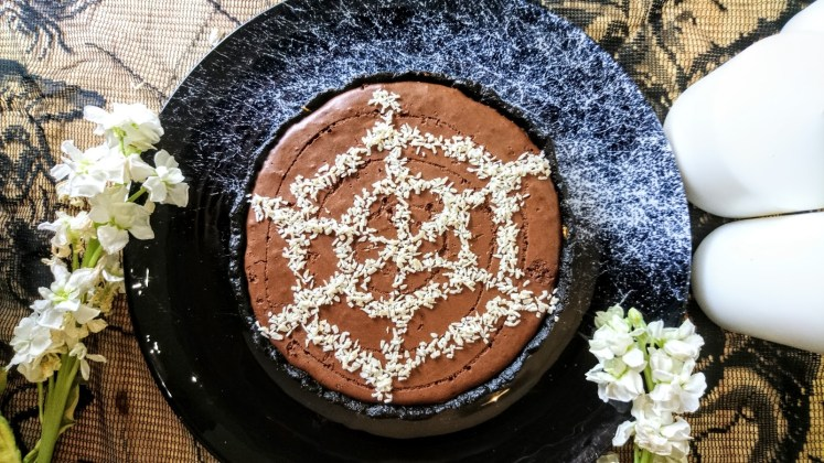Chocolate Mousse and Biscoff Tart halloween 2018