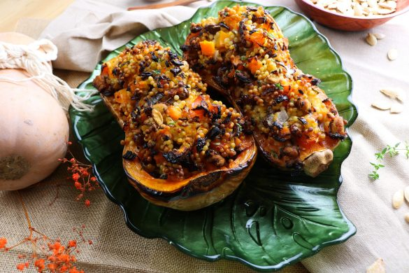 Rustic Giant Cous Cous Stuffed Butternut Squash