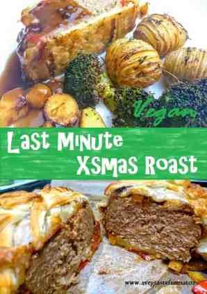 Last Minute Vegan Roast Dinner for pintrest