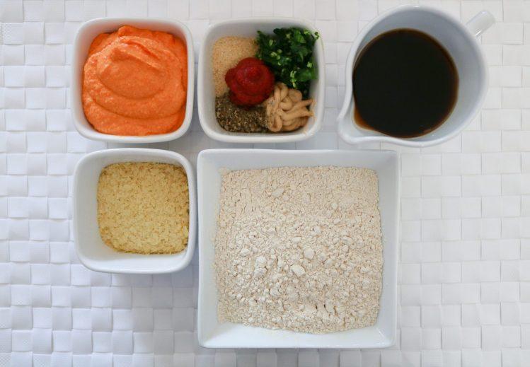 ingredienti per le Salsicce di Seitan e Ceci