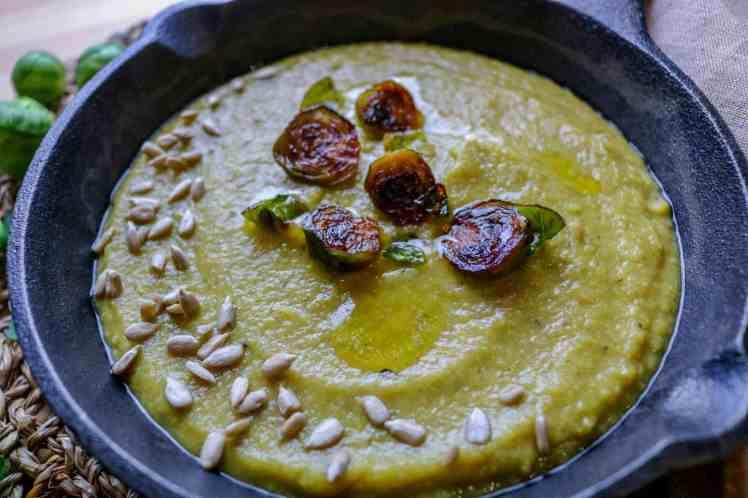 zuppa di Cavoletti di Bruxelles e Porro
