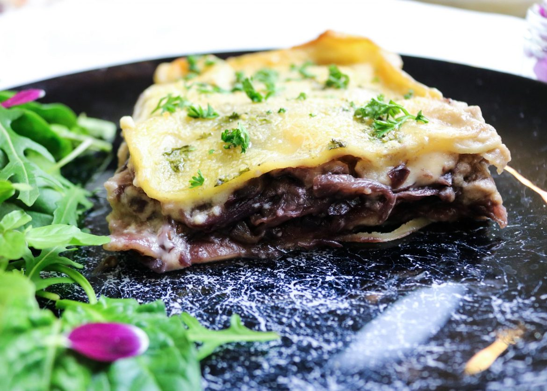 Lasagna al Radicchio e Tofu Affumicato