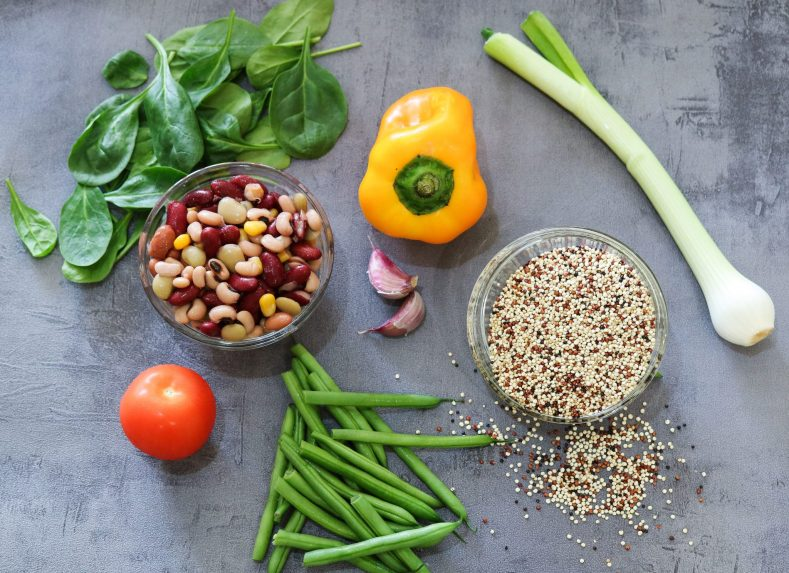 ingredients for Rich and Refreshing Quinoa Salad