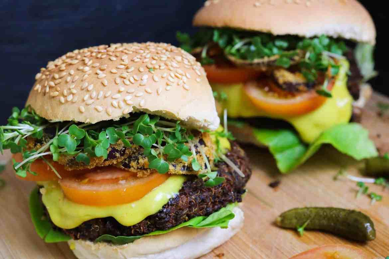 Quinoa and Mushroom Burgers GF
