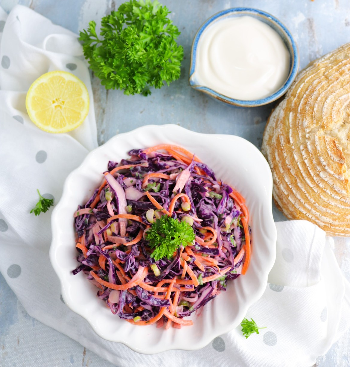 Light Coleslaw Salad