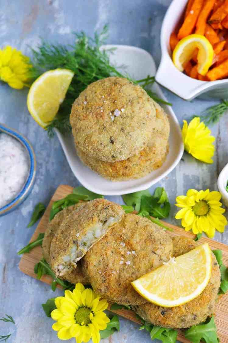 fish cakes vegan di banana blossom nel dettaglio