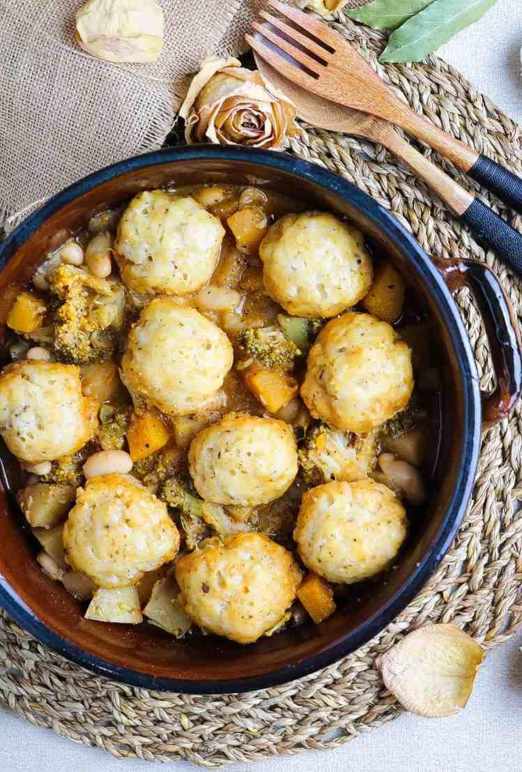 How to make vegan british dumplings recipe