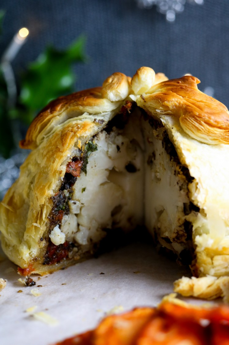 inside of the Roasted Cauliflower Wellington