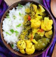 leek curry bowl