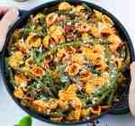 pasta al forno vegana coi fagiolini