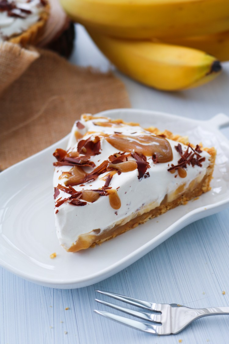 Decadent Vegan Banoffee Pie slice