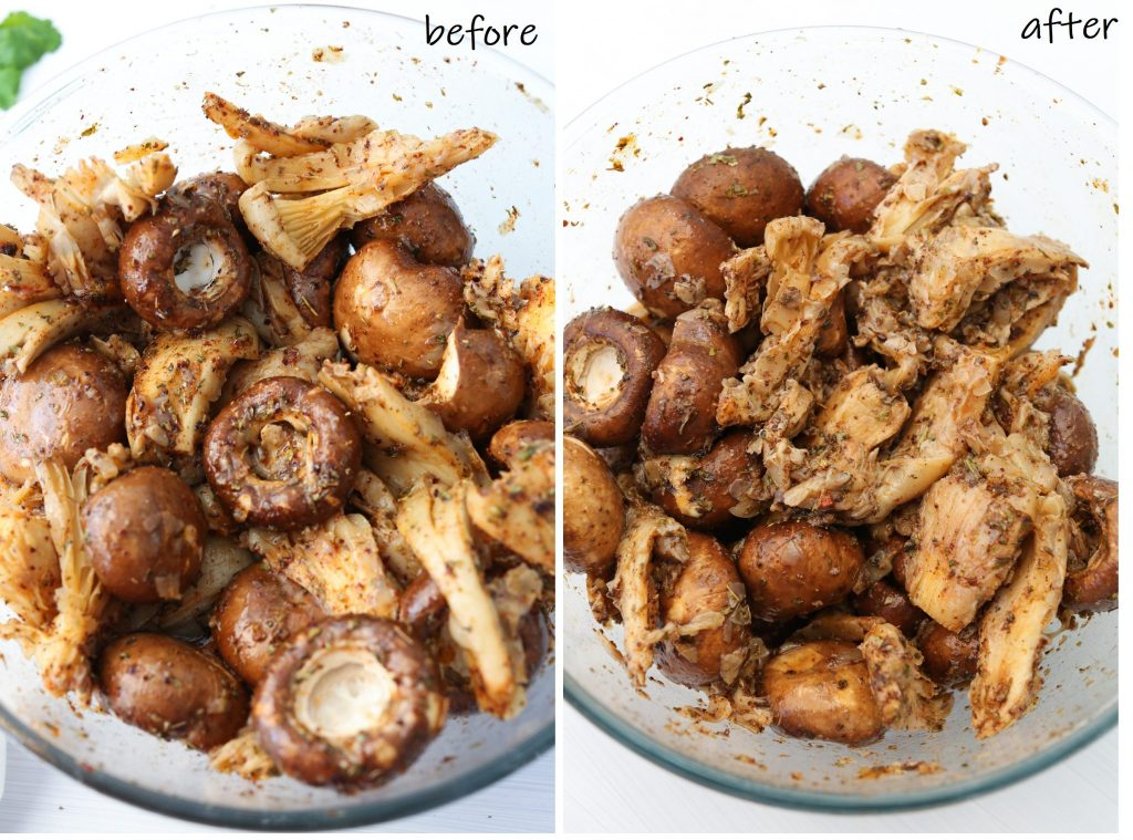 Mushroom Souvlaki Vegan and Gluten Free marinate