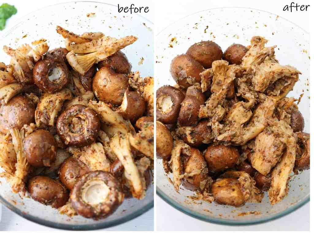 Mushroom Souvlaki Vegan and Gluten Free marinate