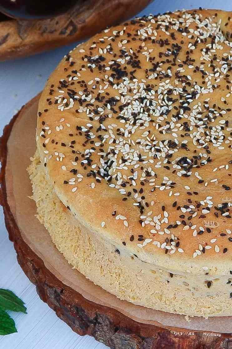 Super Fluffy Courgette Stuffed Brioche Bread whole
