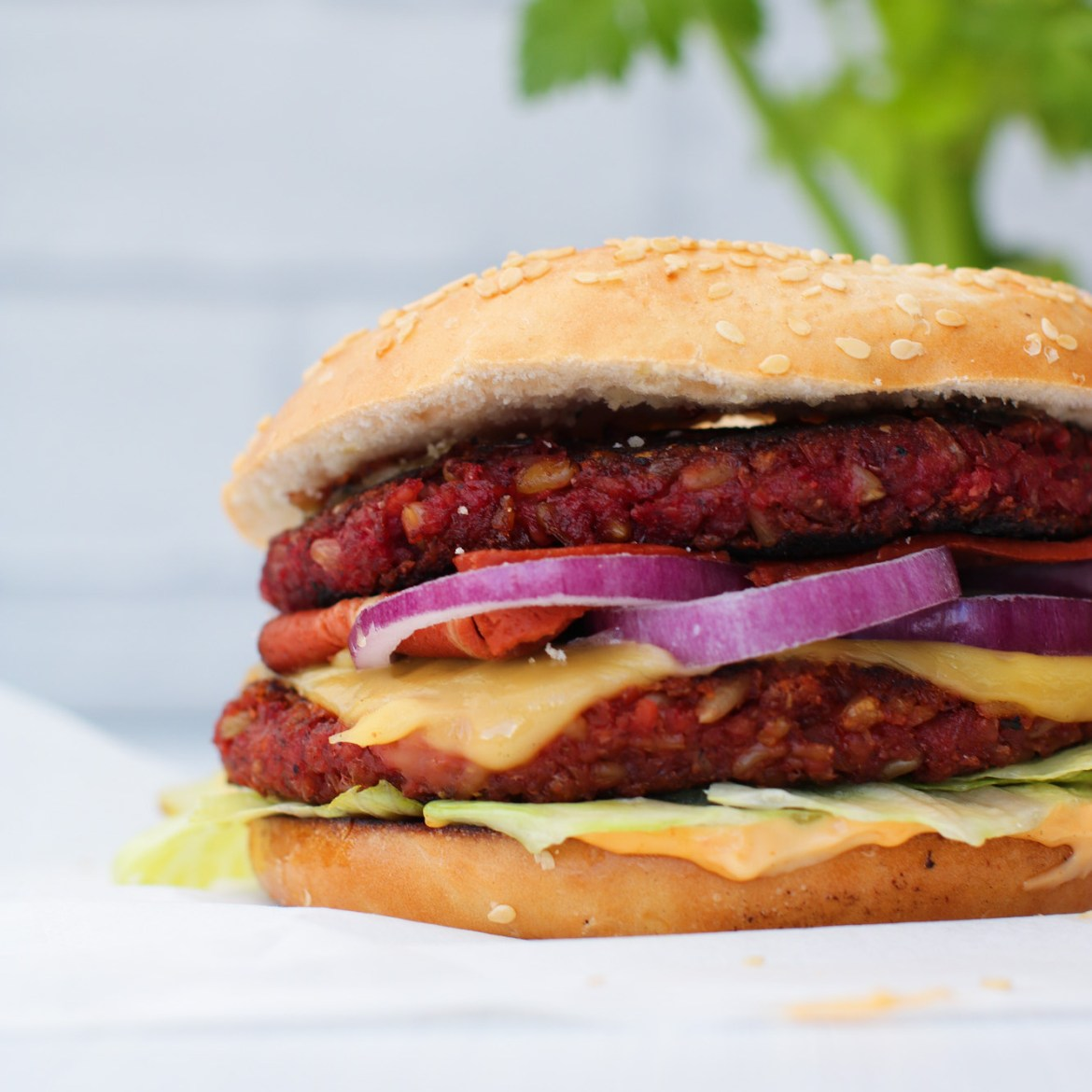 Vegan Burger di Freekeh