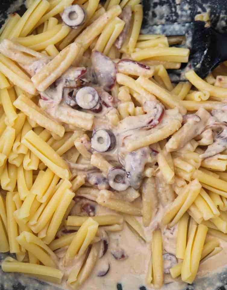 coating pasta