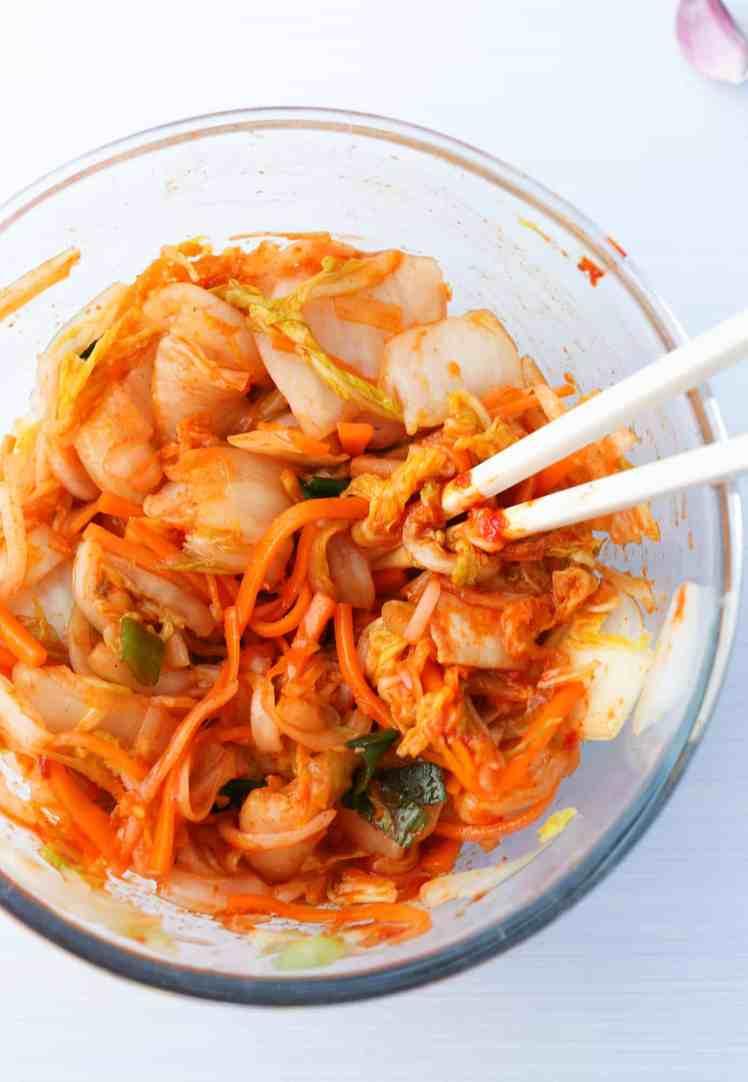 speedy vegan kimchi mixed