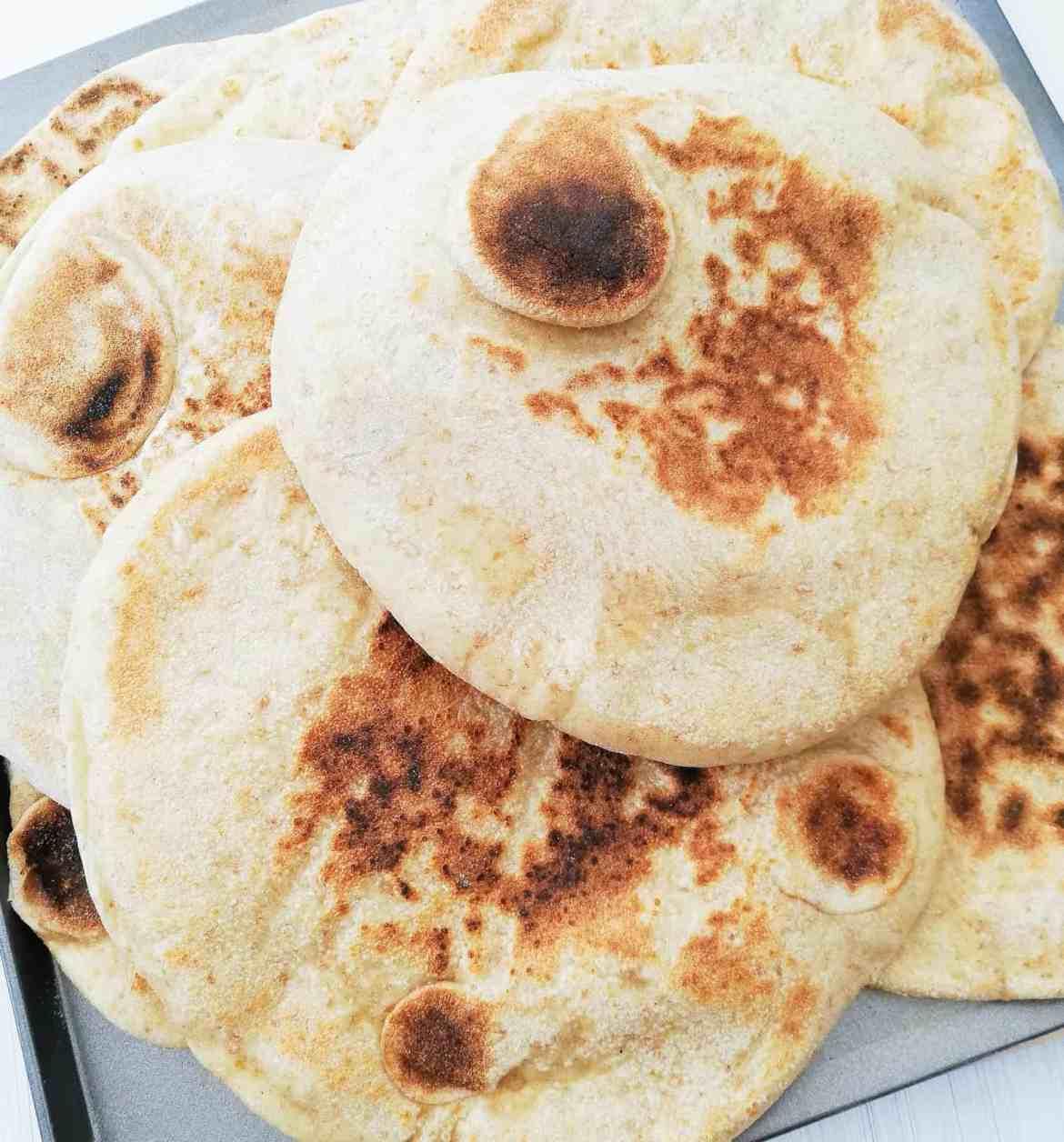Easy homemade pitta bread FI