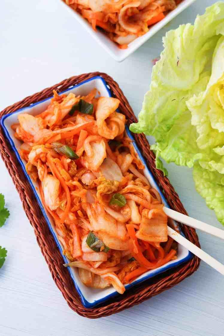 speedy vegan kimchi