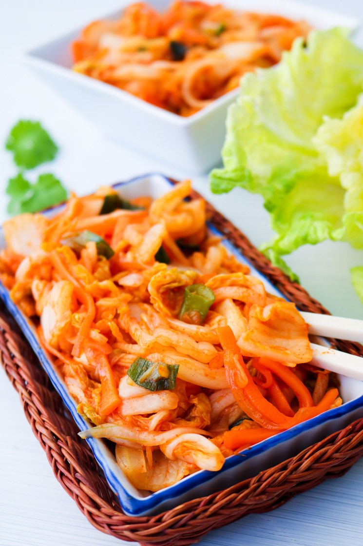 speedy vegan kimchi close up