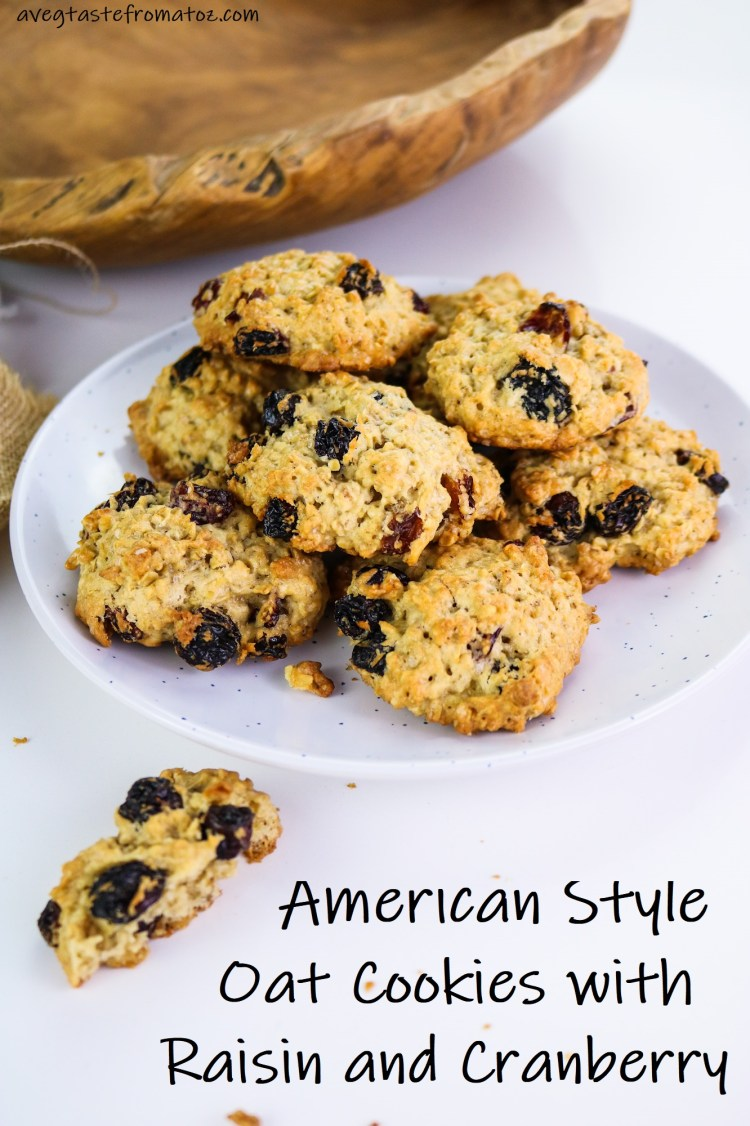 American Style Oat Cookies with Raisin and Cranberry image for Pinterest