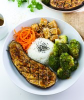 Tofu, Aubergine & Broccoli Miso Bowl Feature Image