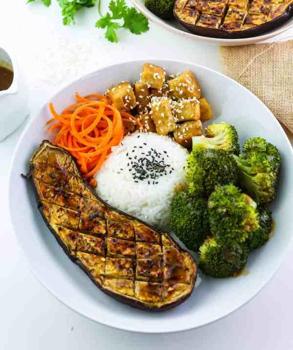 Tofu, Aubergine & Broccoli Miso Bowl Feature Image