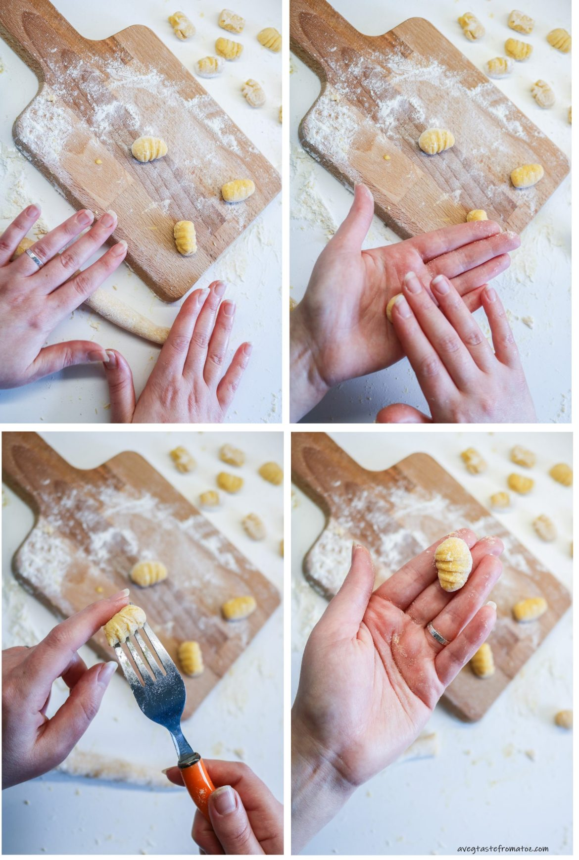 steps for shaping gnocchi