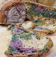 Multicoloured Sourdough Bread