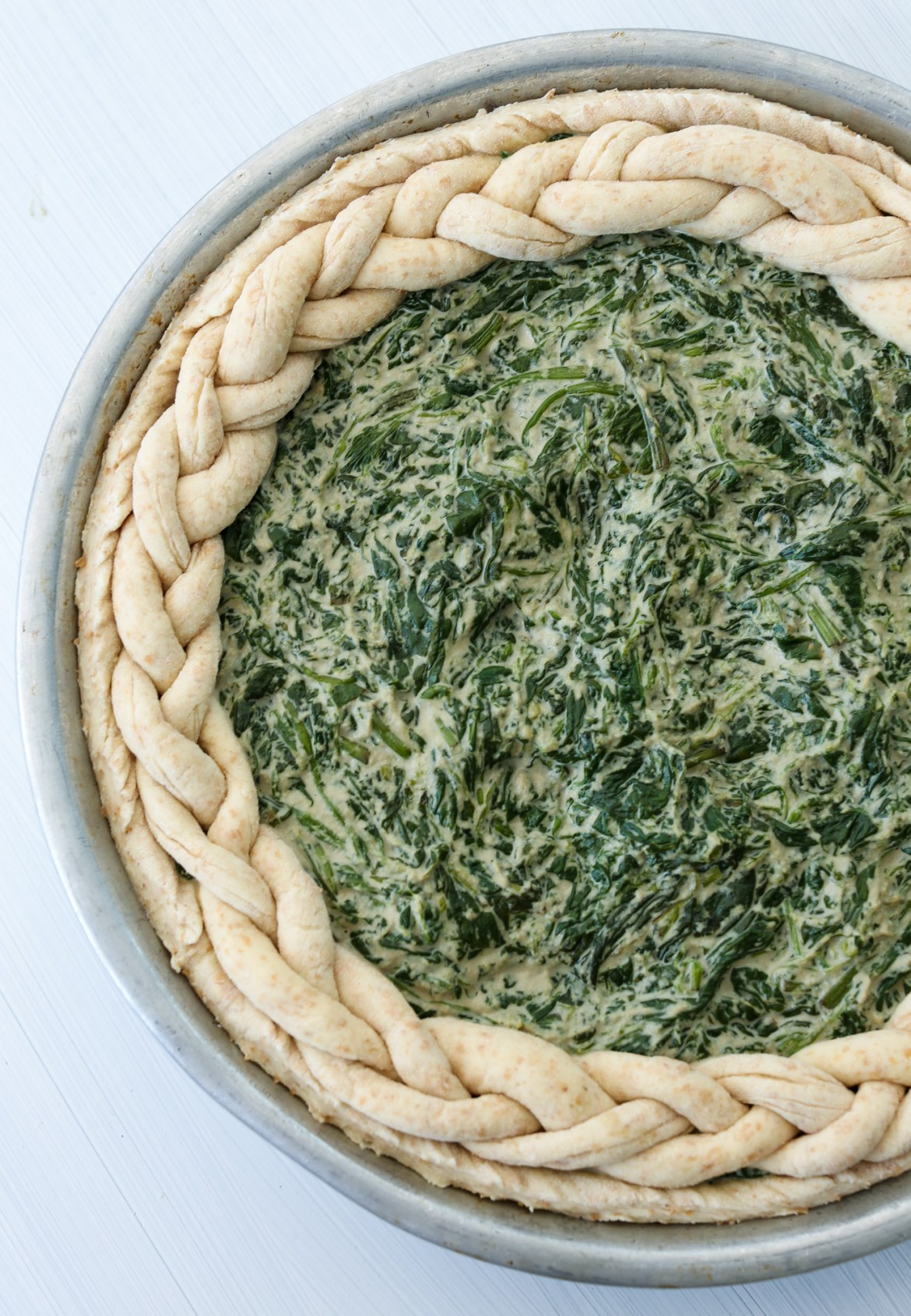 spinach pie ready for the oven