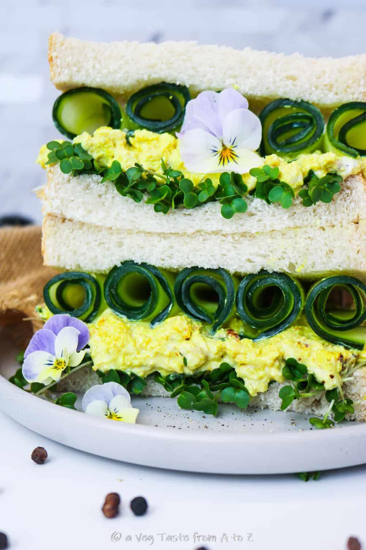tramezzino vegan uova e crescione