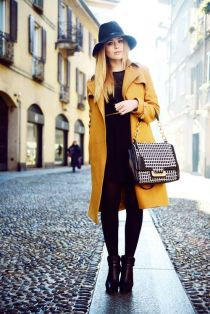 Misted yellow coat