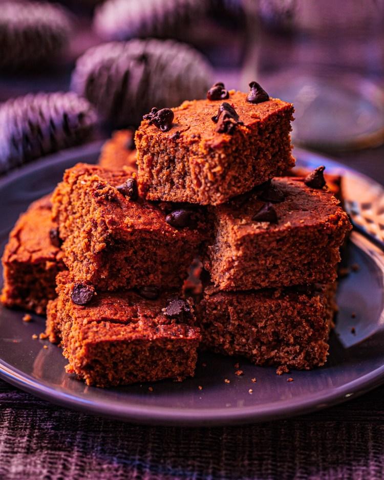 Brownie de avena y mantequilla de cacahuete