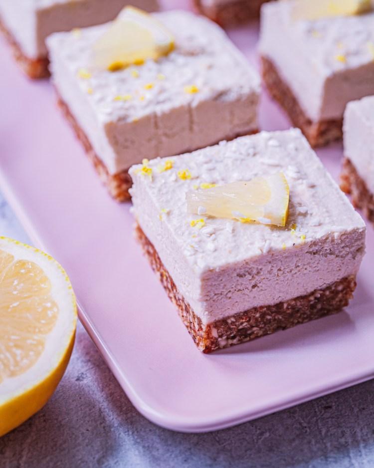 Cheesecake vegano de limón: receta sin horno
