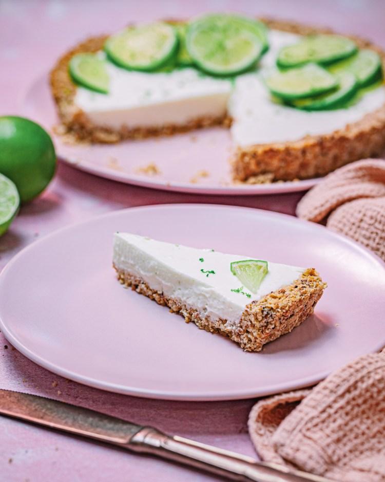 Tarta de yogur y lima, saludable y ligera