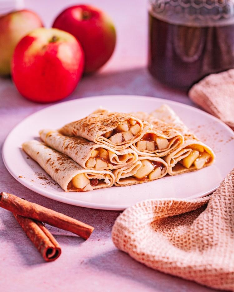 Crepes de avena y manzana: crepes saludables