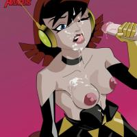 To cheer up the Avengers team Wasp needs only to show her tits and use her mouth...