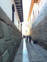 On the backstreets of Cuzco