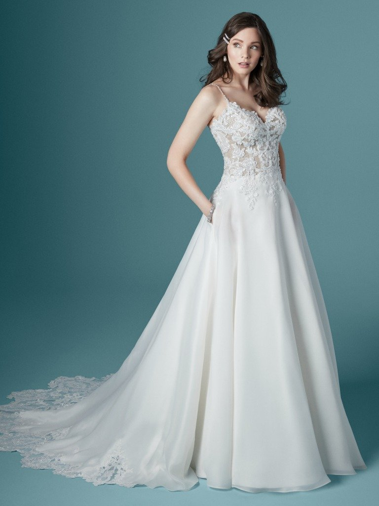 lightweight a line gown