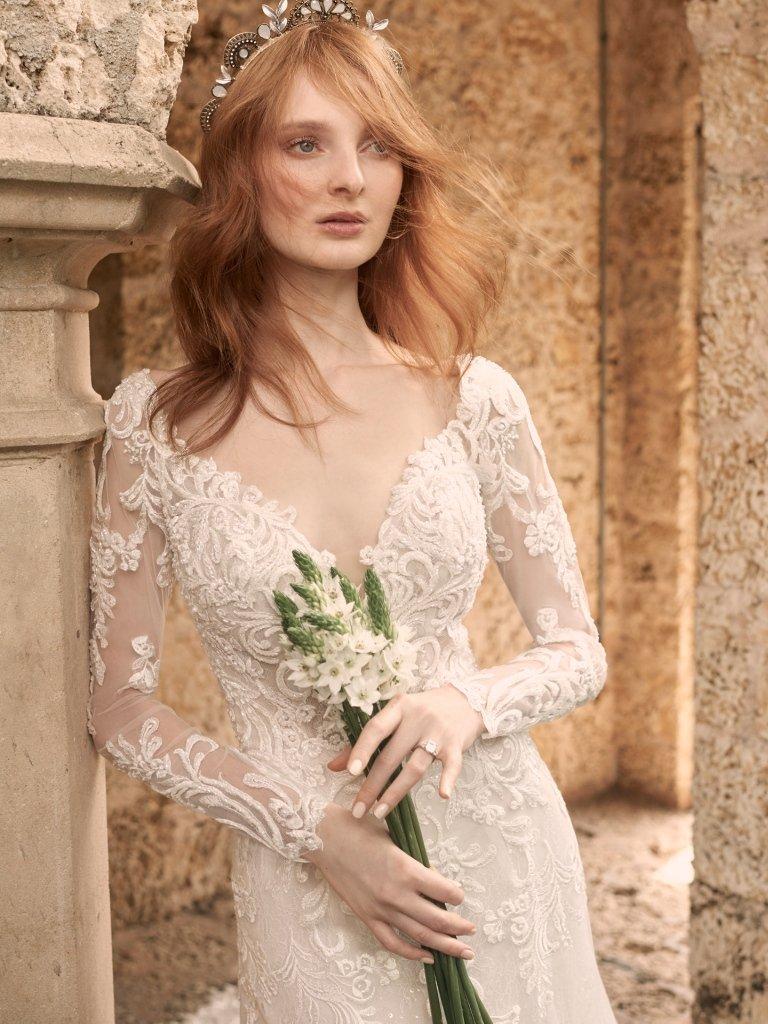 Detachable Long Sleeve wedding dress