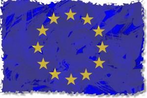 Drapeau européen bordé