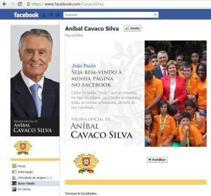 Facebook de Cavaco Silva, Figura Pública