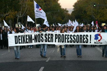 Deixem-nos Ser Professores, imagem de uma das manifestações de Professores